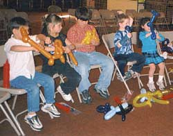 Kids at a workshop
