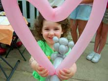Heart Shape Balloon character