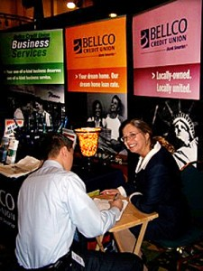 handwriting at belco trade show