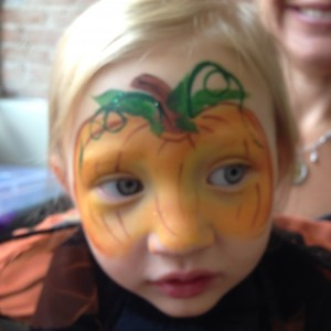 baby pumpkin face paint