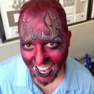 Devil face paint