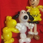 balloon charlie brown, snoopy and woodstock
